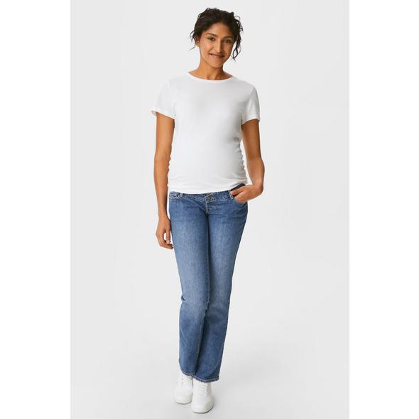 Umstandsjeans - Straight Jeans - Bio-Baumwolle