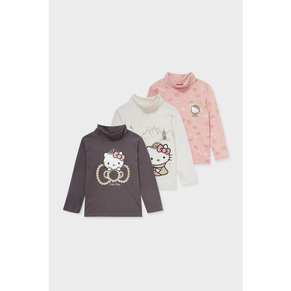 Multipack 3er - Rollkragenshirt - Hello Kitty - Bio-Baumwolle