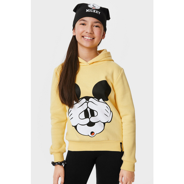 Micky Maus - Set - Hoodie, Mütze und Haargummi - 3 teilig