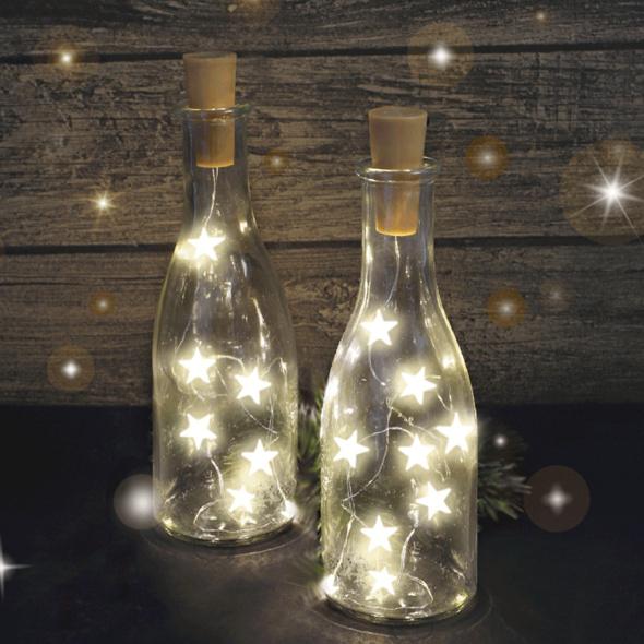 10er LED-Flaschenkorken