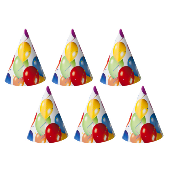 6er Partyhüte
