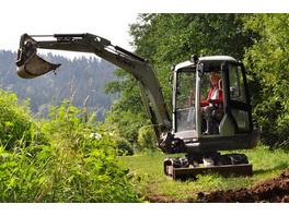 Bagger-Training im Schwarzwald