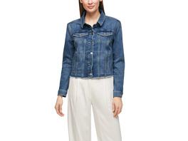 Jeansjacke mit Fransensaum - Jeansjacke