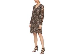 Chiffon-Kleid mit Musterprint - Chiffon-Kleid