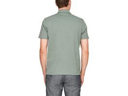 Poloshirt mit Flammgarn-Struktur - Jerseyshirt