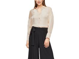 Lockere Hemdbluse aus Satin - Satin-Bluse
