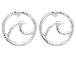 Ohrstecker Wave Silver