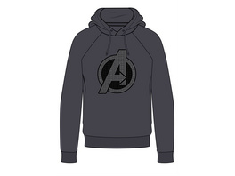 Marvel Avengers - Hoodie Logo grau (Größe L)
