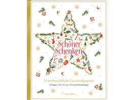 Geschenkpapier-Buch - Schöner schenken. 24 weihnac