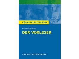 Der Vorleser. Textanalyse und Interpretation