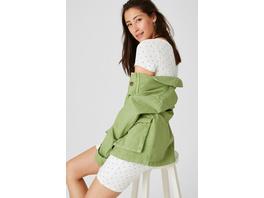 Basic-Kleid - Bio-Baumwolle - gepunktet