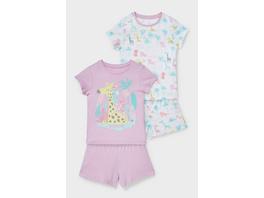 Multipack 2er - Shorty-Pyjama - Bio-Baumwolle