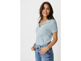 Basic-Poloshirt - Bio-Baumwolle - gestreift