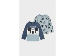 Multipack 2er - Micky Maus - Baby-Langarmshirt